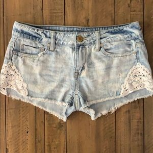 American Eagle Denim & Lace Shorts